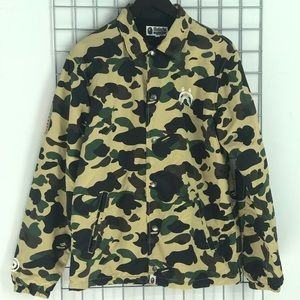 Men's BAPE Shark Camo Coach Bomber Jacket